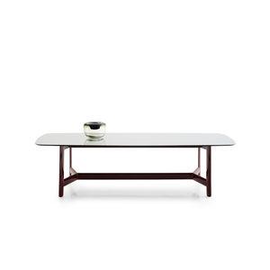 Contemporary Table / Oak / Eucalyptus / Glass