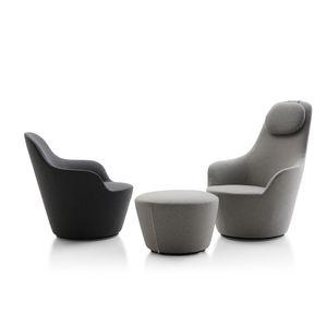 armchair fabric swivel high back