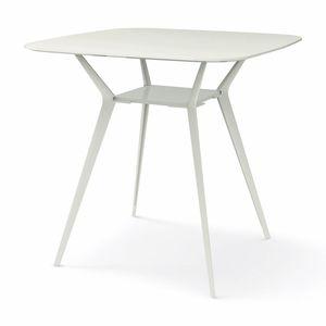 Contemporary High Bar Table / MDF / Aluminum / Square