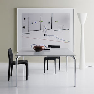 Contemporary Dining Table / Glass / Marble / Oak