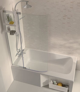 Beau Free Standing Bathtub Shower Combination / Rectangular / Acrylic