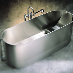 Free Standing Bathtub / Oval / Stainless Steel