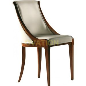 Art Deco Chair / Upholstered / Wooden