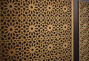 wall-mounted decorative panel / wood / metal / laminate
