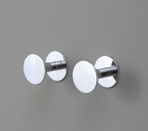 contemporary coat hook / chrome-plated brass / multi-person / bathroom