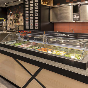 Refrigerated Display Counter / Illuminated / For Restaurants