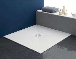 Square Shower Base / Composite / Extra Flat