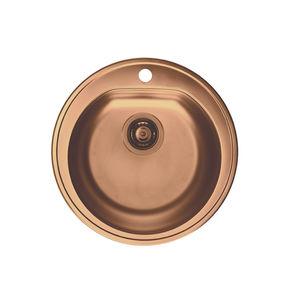 Single Bowl Kitchen Sink / Stainless Steel / Round