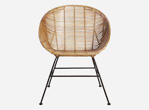 Contemporary Chair / Rattan / Iron