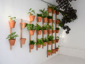 Wooden Garden Pot Wall Mounted Conical