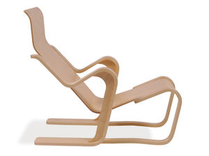 chair with armrests wooden by marcel breuer