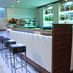 Bar Counter / Wooden / Glass / Upright