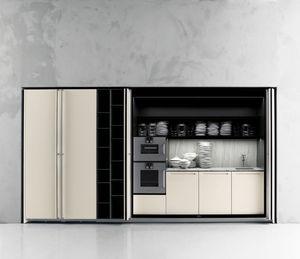 Boffi. Contemporary Kitchen / Melamine / Walnut / Oak