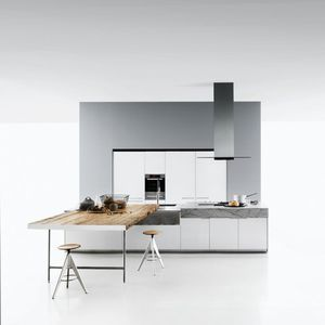 Boffi. Contemporary Kitchen / Stainless Steel / Laminate / Wooden