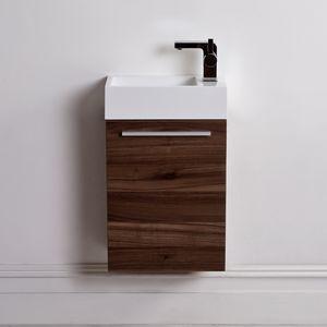 wall hung washbasin cabinet stone resin walnut contemporary cabinets bora wall mounted