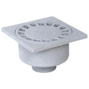 PVC Floor Drain / Square / Patio / Grated
