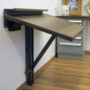 Contemporary Drafting Table / Oak / Rectangular / Commercial