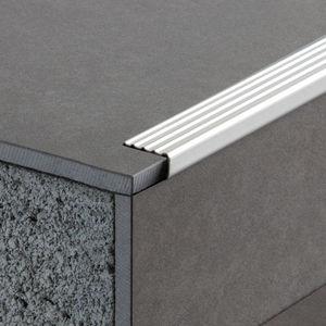 Stainless Steel Edge Trim / For Tiles / Outside Corner / Stair Nosing