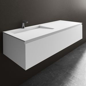 Wall-hung washbasin cabinet - All architecture and design ...