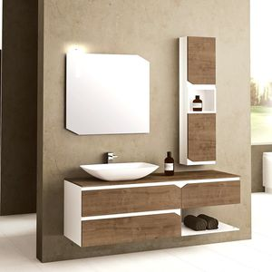 Superbe Wall Hung Washbasin Cabinet / Wooden / PVC / Contemporary