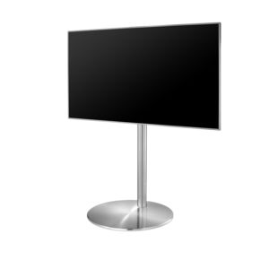 Contemporary TV Stand / Swivel / Stainless Steel