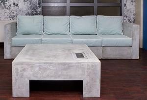 Modular Sofa / Contemporary / Outdoor / Concrete
