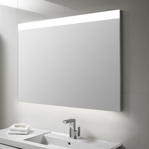Wall Mounted Bathroom Mirror / LED Illuminated / Contemporary / Rectangular