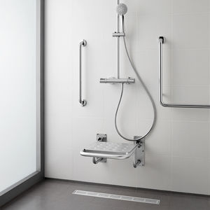 Folding Shower Seat / Stainless Steel / Wall Mounted