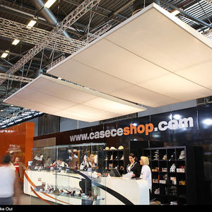 canvas suspended ceiling / floating / decorative / flame-retardant