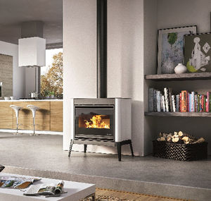 Wood Heating Stove Contemporary Steel Cast Iron