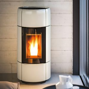 pellet heating stove corner ceramic