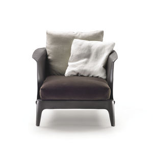 armchair leather with removable cushion by carlo colombo - Arm Chairs