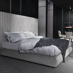 Floating Bed / Double / Contemporary / Upholstered