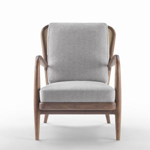 Lovely Contemporary Armchair / Fabric / Leather / Solid Wood
