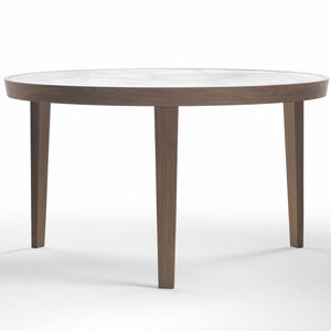 dining table marble solid wood round