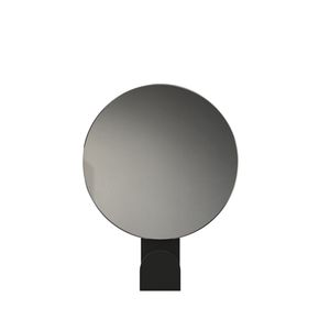 Wall Mounted Mirror Contemporary Round Aluminum