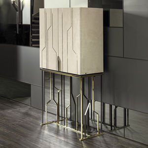contemporary bar cabinet / walnut / lacquered wood / ebony & Contemporary bar cabinet - All architecture and design manufacturers ...