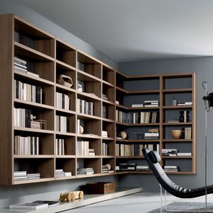 Wall Mounted Bookcase Contemporary Wooden By Mauro Lipparini