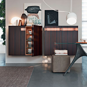 contemporary living room wall unit wooden glass aluminum