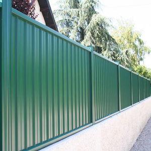 Garden Fence / Bar / Aluminum / Stained