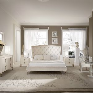 Double Bed New Baroque Design Solid Wood