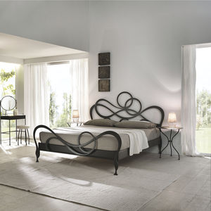 double bed new baroque design with headboard wrought iron - Wrought Iron Bed Frame