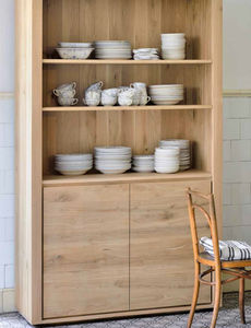 Genial Contemporary China Cabinet / Oak