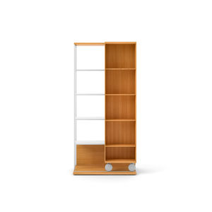 Superior Mobile Bookcase / Contemporary / Wooden / On Casters