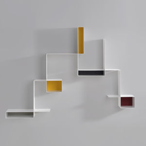 wall-mounted shelf / modular / contemporary / sheet steel