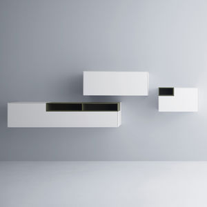 Contemporary Living Room Wall Unit / Lacquered MDF