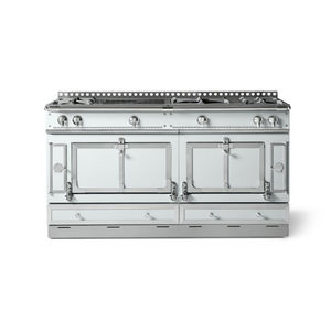 Gas range cooker / electric / dual-fuel / stainless steel - LE ...