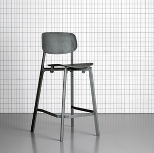 Contemporary Bar Chair Stackable Aluminium Polypropylene