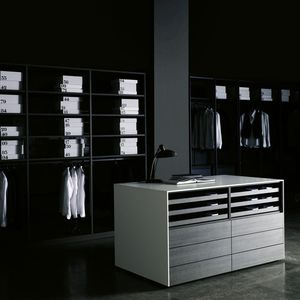 Contemporary Chest Of Drawers / Lacquered Wood / Melamine / By Piero Lissoni