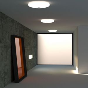 Surface Mounted Light Fixture / LED / Round / Blown Glass